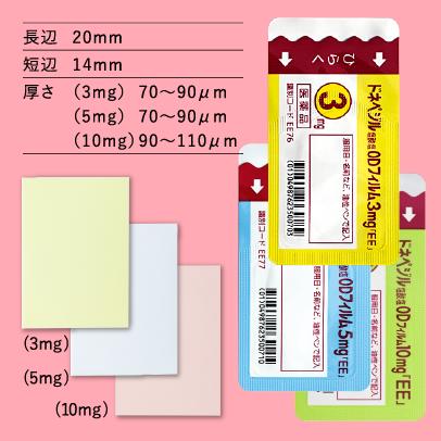 ドネペジル塩酸塩ODフィルム3mg/5mg/10mg「EE」